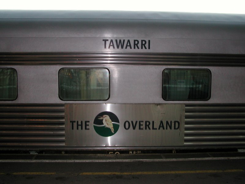 We boarded The Overland in Melbourne.